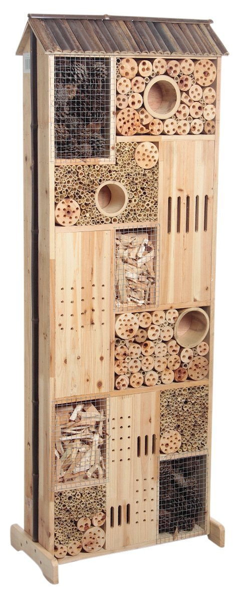 Large Wooden Insect Hotel House Double Sided