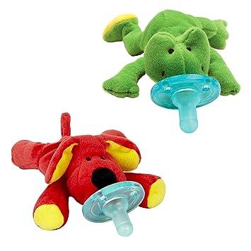 Amazon.com: Wubbanub Chupete Infantil ~ perro rojo & Rana ...