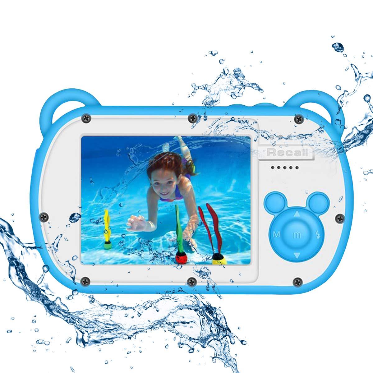 CamKing Kids Digital Camera, K3 2.7'' Screen Children's Cartoon Digital Camera, Blue