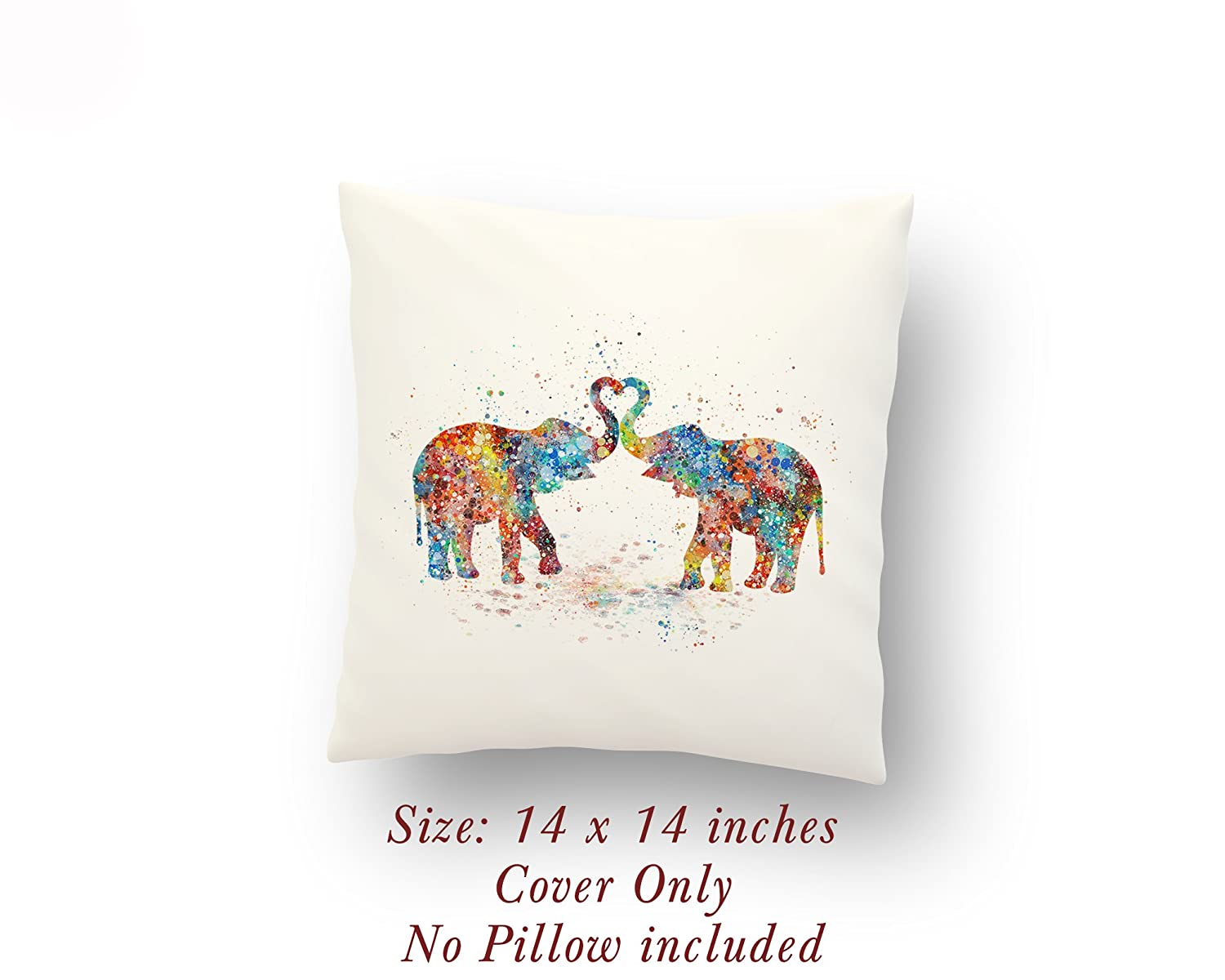 Elephants Love Gift 14 x 14 inches Pillow Cover