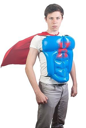 NPW - Capa de disfraz de superhéroe disfraz hinchable W/Azul héroe ...