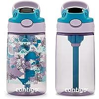 Contigo Kids Water Bottle with Redesigned AUTOSPOUT Straw, 14 oz., Dinos, 2-Pack