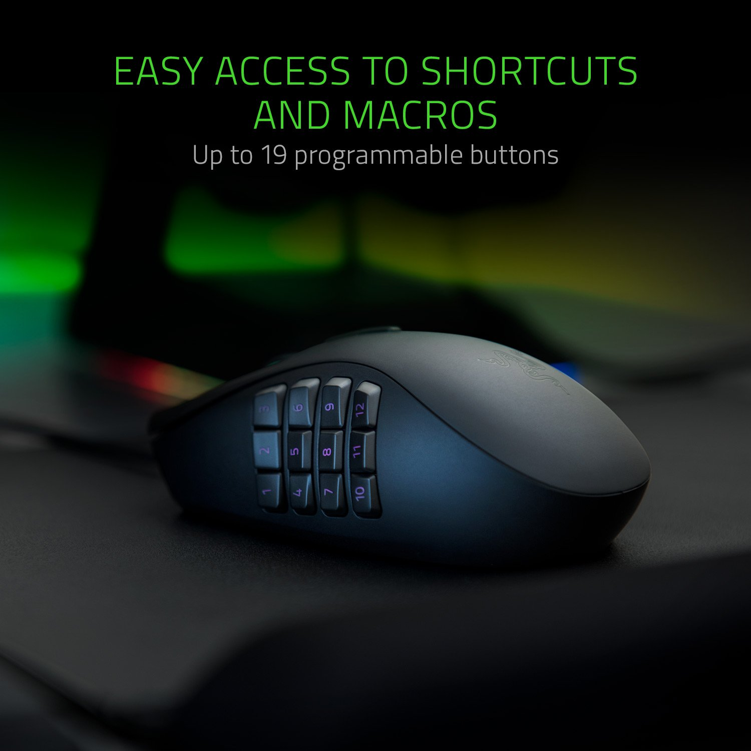 Razer Naga Trinity True 16 000 5g Optical Sensor 3 Blackwidow Chroma V2 Kraken 71 Hex Sphex Interchangeable Side Plates Enable Gaming Mouse Computers Accessories