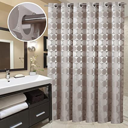 Delicieux Goodbath Bathroom Shower Curtain By, Hotel Style Round Circle Pattern Heavy  Weight Waterproof And Mildew