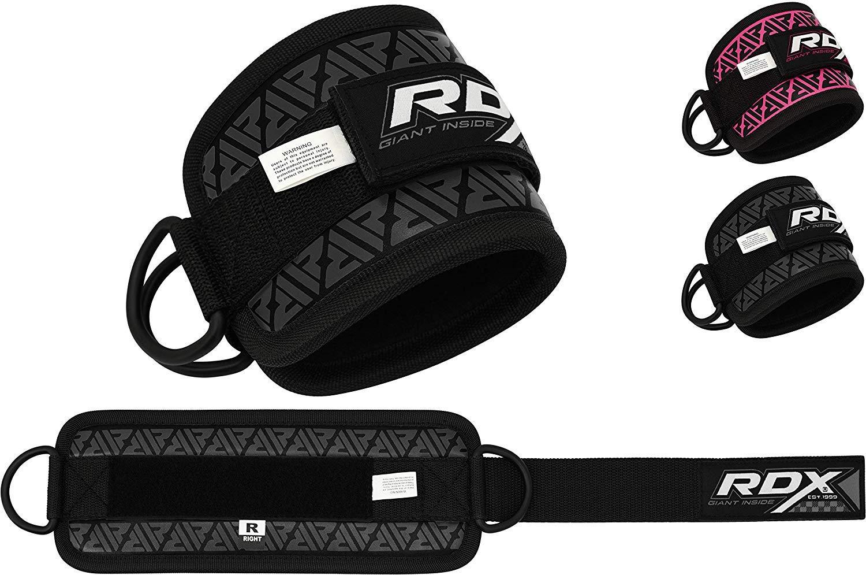RDX Tobillo Doble Correa D-Ring Multi Gym Cable Muslo de la Pierna Polea de Elevación