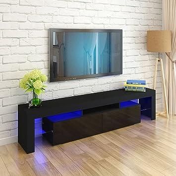 Muebles de TV LED, Mueble de TV Moderno de 200 cm, gabinete ...