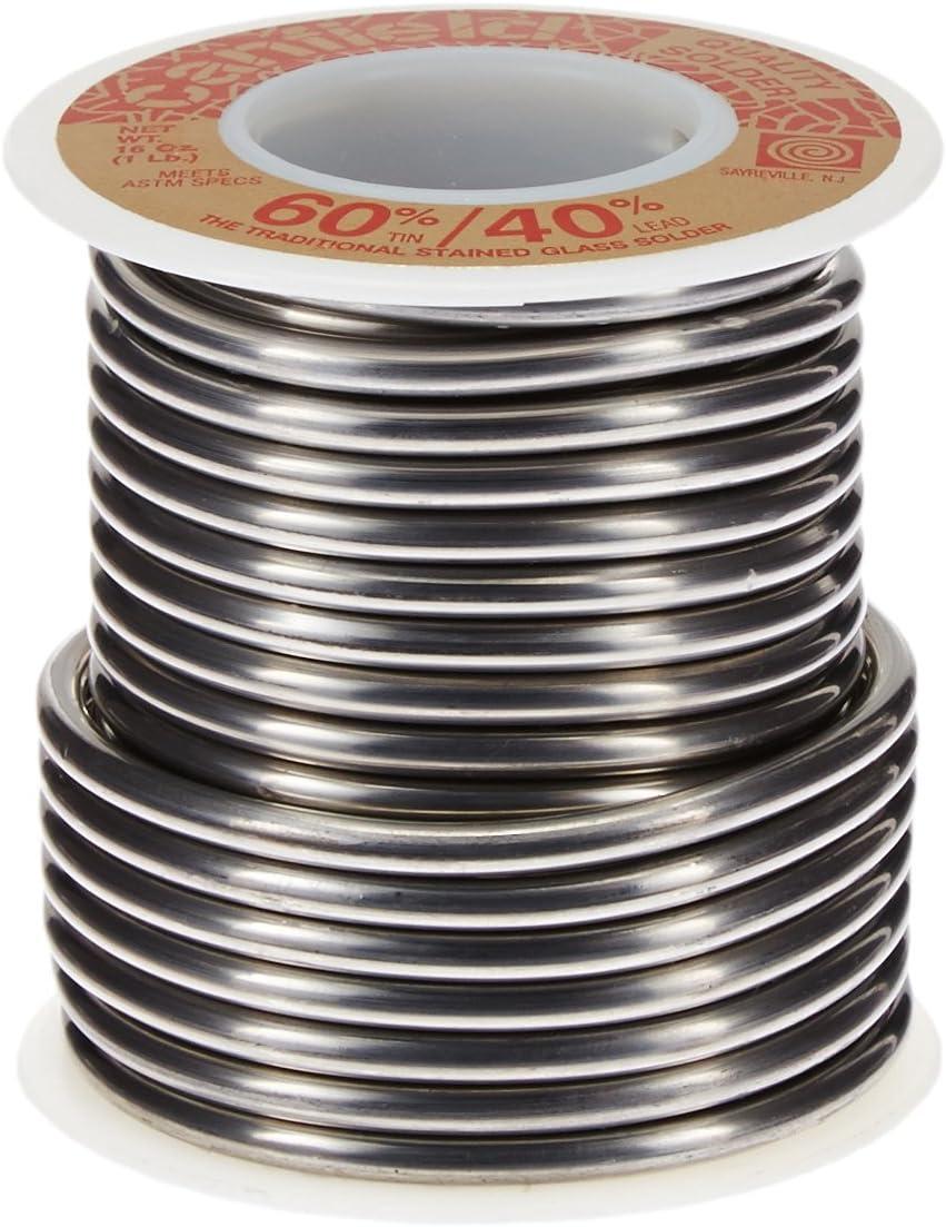Rollo De 0.45kg Vitreaux 60% Estaño 40% Plomo 3mm Canfield