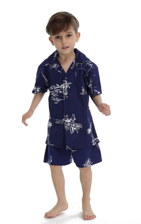 Hawaii Hangover Boy Aloha Luau Shirt Christmas Shirt Cabana Set in Navy Map Classic 01NC-9102