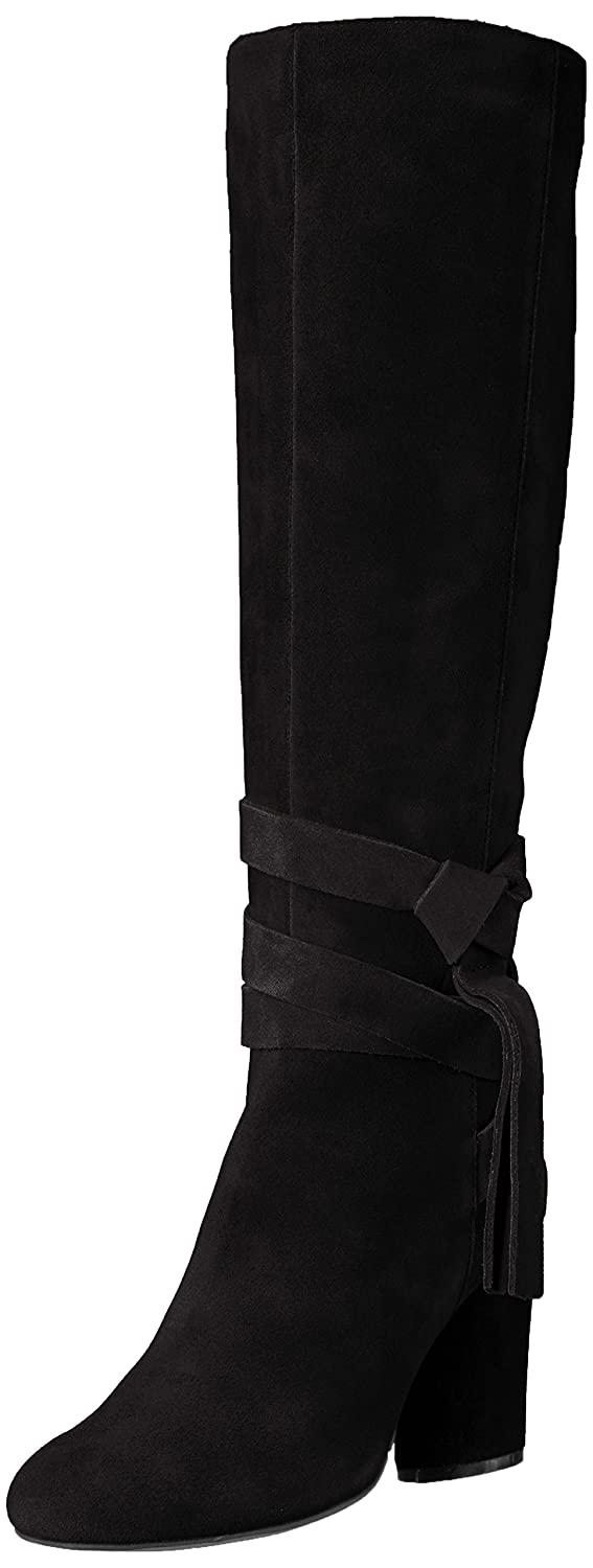 The Fix Women's Nia Knee-High Ankle Tie Boot B072V89RCN 9 M US|Black Suede