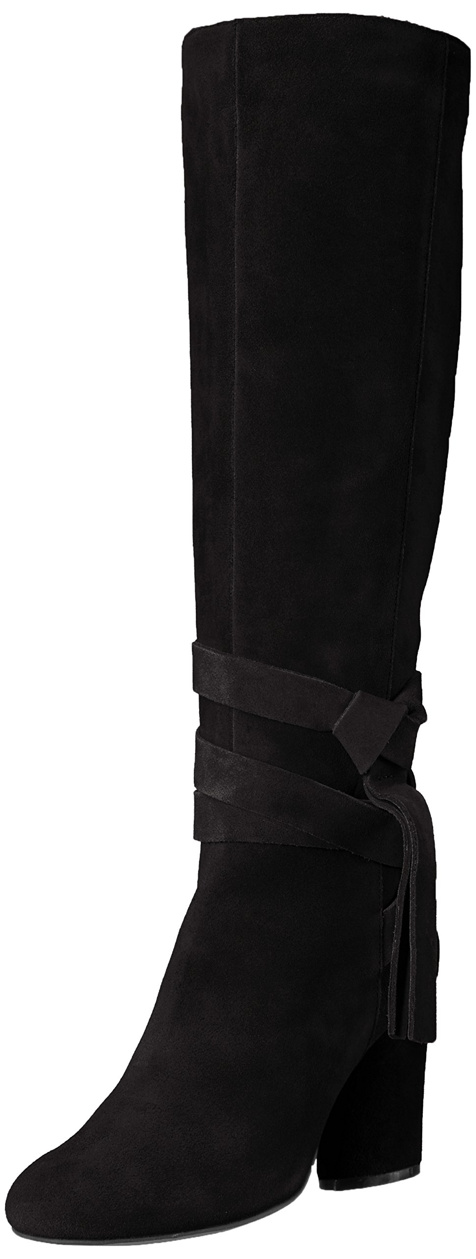 The Fix Women's Nia Knee-High Ankle Tie Boot, Black, 6.5 M US