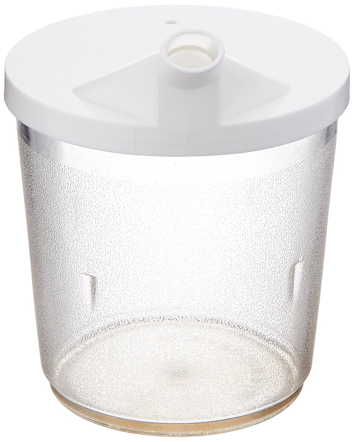 Sammons Preston Clear Cup with Snorkel Lid, 8 Ounces, Portable On-The-Go Drinking Mug for Hot and Cold Beverages, Spouted Lid for Better Liquid Flow