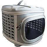 [追加90%割引] Pet Magasin (ペットマガジン) 折りたたみ可能・ハードカバー・ペットキャリーバッグ- ネコ、小型犬、子犬のための丈夫な軽量布で作られたハードトップ&フロア付き、ポータブルケージ