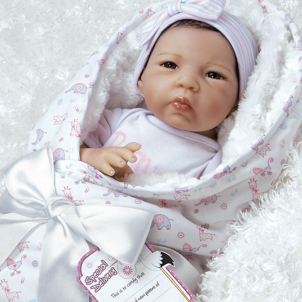 Promoción por tiempo limitado Paradise Galleries Muñeca Girl Bebe Recien Nacido de Flex Touch 48cm Regalito Born to be Spoiled Bueno para Crear un Reborn