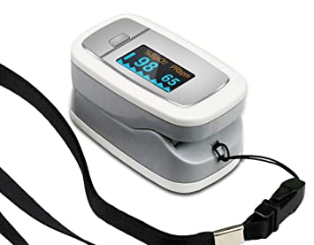 1byone Portable Instant Read Digital Fingertip Pulse Oximeter with .