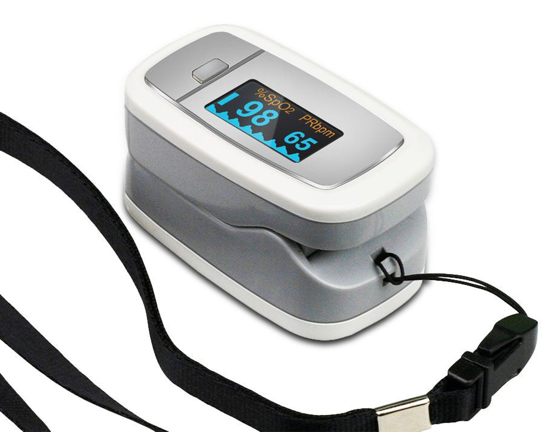 Easy@Home Fingertip Pulse Oximeter with OLED Display in 4 directions and 6 modes