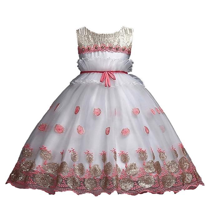 3faaf896dbe24 Enfants Summer Unicorn Tutu Robe pour Les Filles Broderie Flower Ball Robe  Bébé Fille Princesse Robes ...