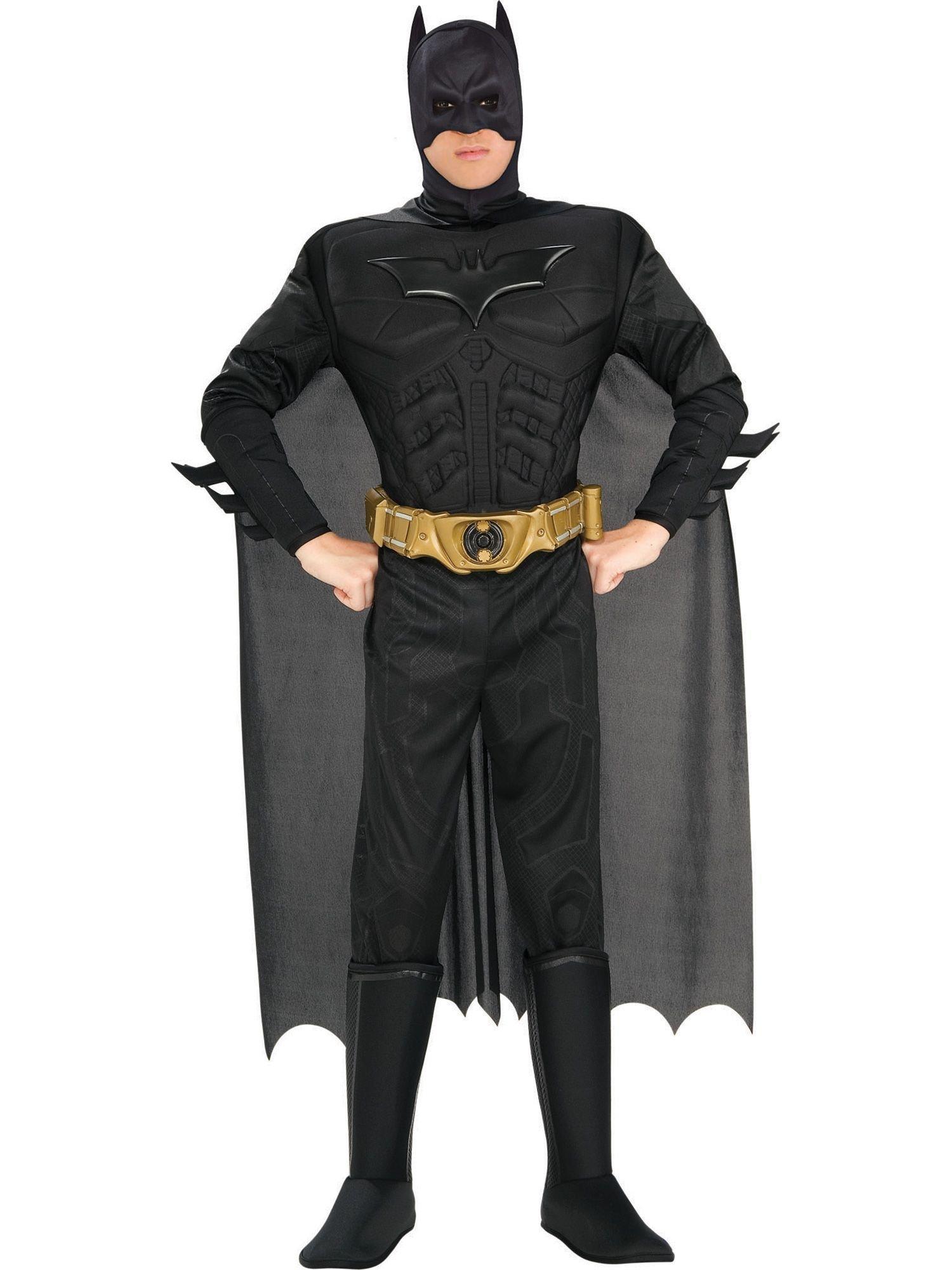 Batman The Dark Knight Rises Adult Batman Costume, Black, Large