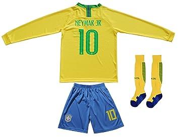 more photos 169ad 9de43 FCB BRAZIL NEYMAR JR #10 Home Football Soccer Kids Jersey Short Socks Set  Youth Sizes