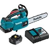 "Makita XCU06T 18V LXT Lithium-Ion Brushless Cordless (5.0Ah) 10"" Top Handle Chain Saw Kit, Teal"