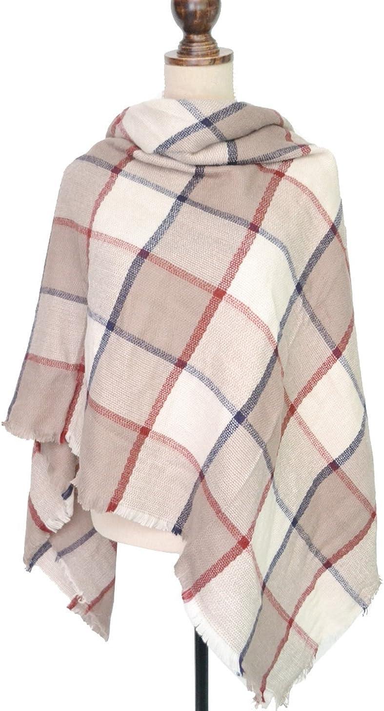 SALE Tartan design Super Soft Thick mohair brushed blanket scarf   SALE