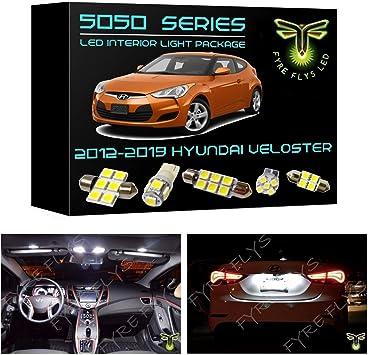 2012-2015 Hyundai Veloster Premium White LED Interior Package 8 Pieces