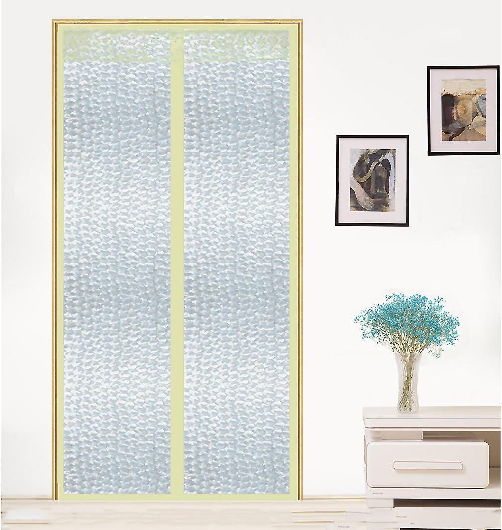 ZHFC Aire Acondicionado Cortinas de Velcro, Anti - Mosquito Verano Suave Transparente plástico plástico del hogar partición,A_140x220cm: Amazon.es: Hogar