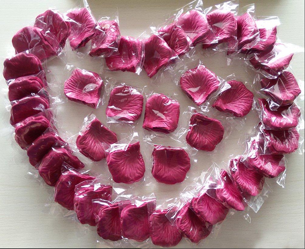 Amazon.com: CO-RODE Wedding Decoration Silk Rose Petals Artificial ...