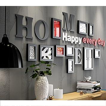 Cadres Photo Photo Mur Bois Combinaison Salon Mur Noir Et Blanc Photo Mur  Chambre Photo Cadre