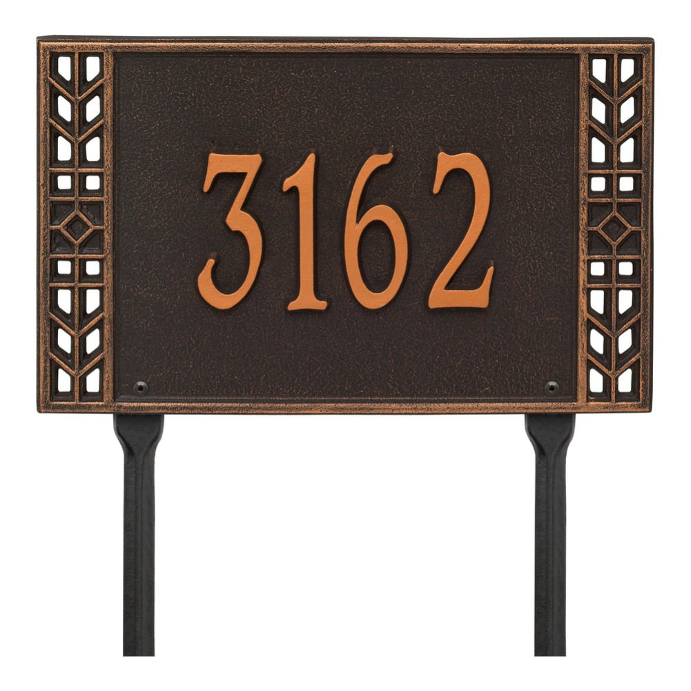 Personalized Arts And Crafts House Sign - Custom Indoor/Outdoor Address Plaque - Lawn by Whitehall