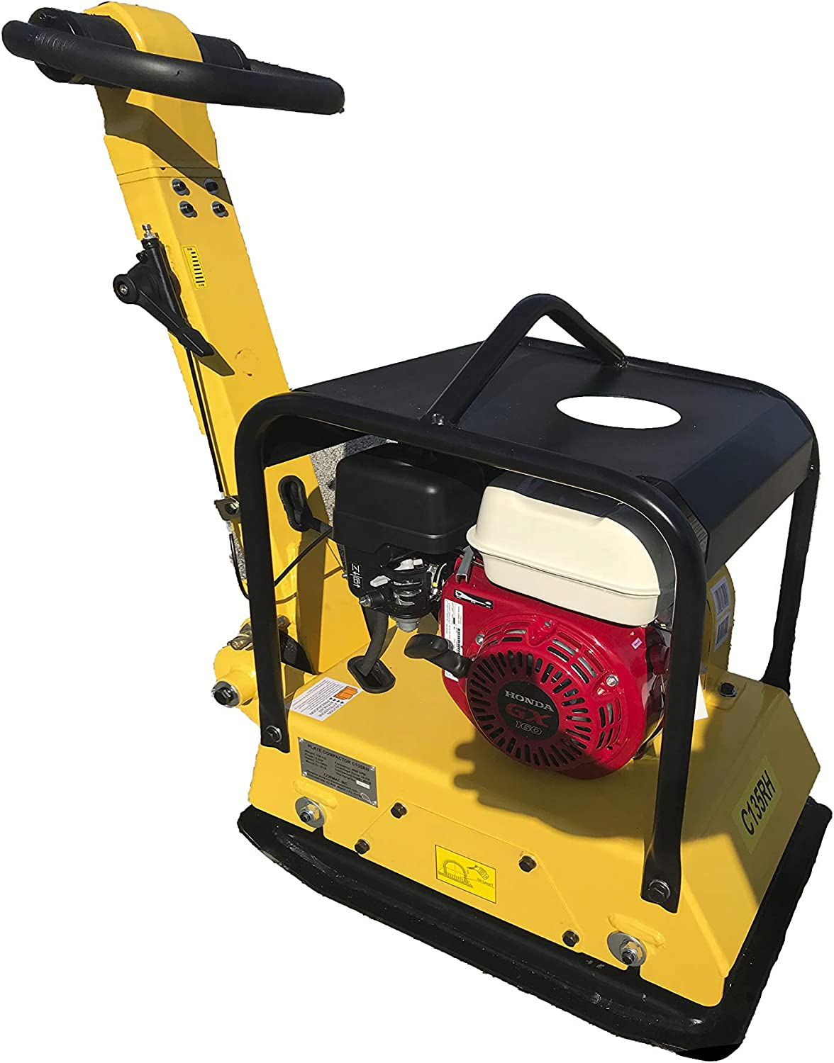 CORMAC C135RH Hydraulic Reversible plate compactor, gasoline engine GX160 @ 5.5 Hp, weight: 320 Lb