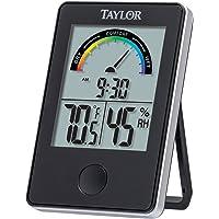 Taylor 1732Interior Nivel de Comodidad Termómetro y el higrómetro, Color Negro