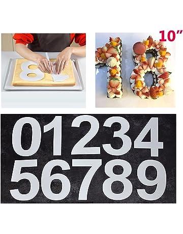Juego de moldes para Tartas con número Grande de 0 a 9 para Hornear y repostería