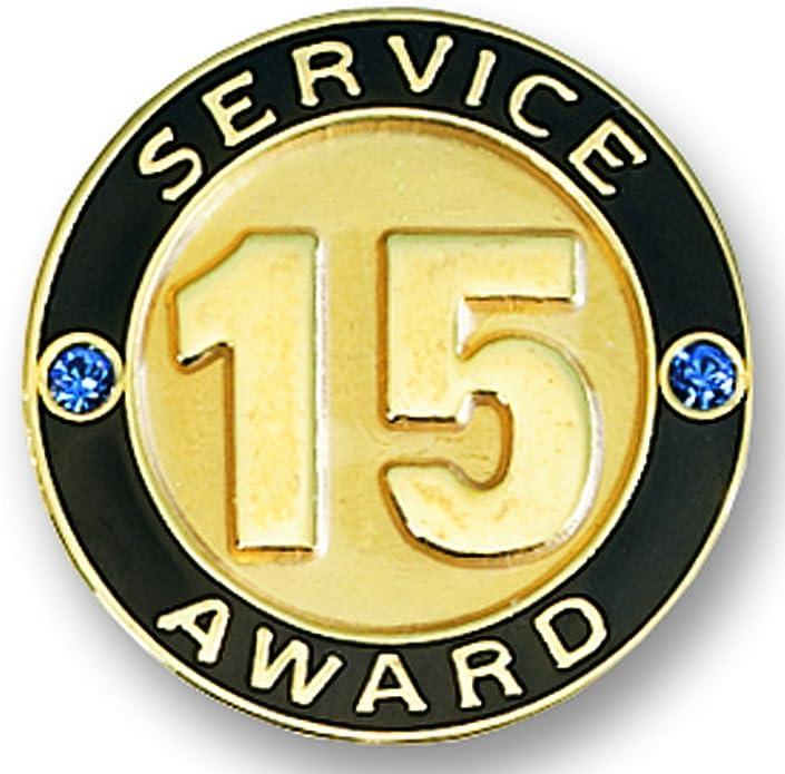TCDesignerProducts 10 Year Service Star Award Pin with Glitter Ribbon