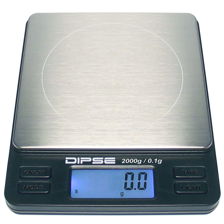 Dipse - Báscula digital de precisión para laboratorio, TP-500 x 0,01, micro báscula digital con una resolución precisa de 0,01 g hasta 500 g / 0,5 kg