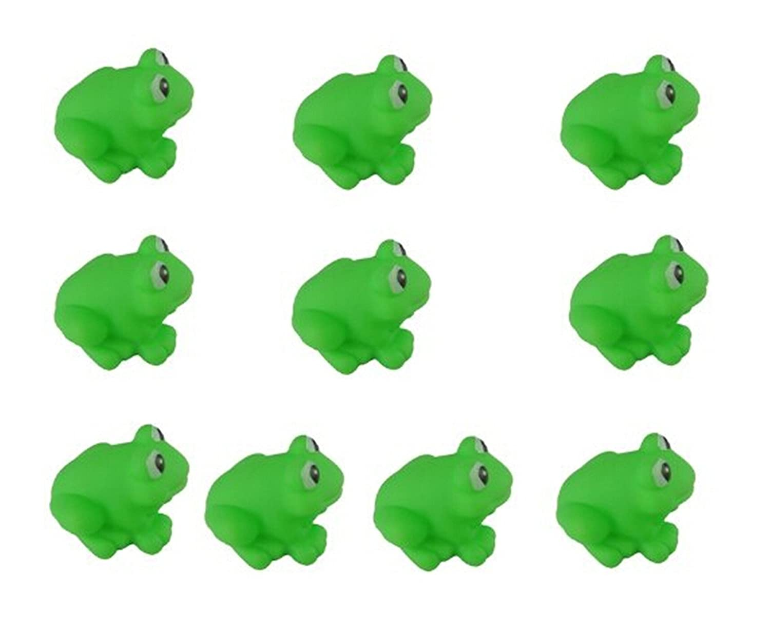 KingWinX Funny Baby Rubber Bathtub Toys, Pack of 10 pcs Frogs Top Element