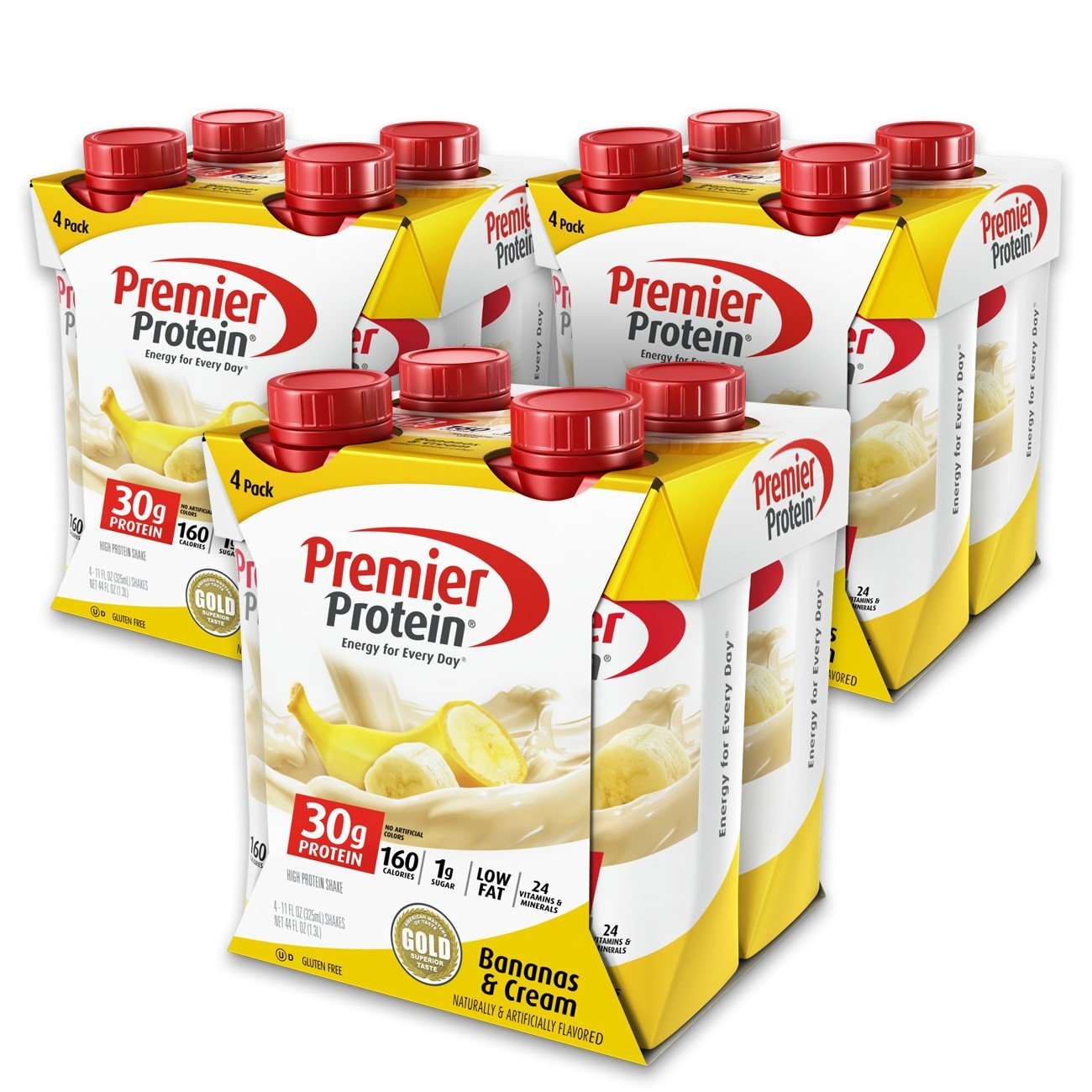 Premier Protein 30g Protein Shake, Banana, 12 Count
