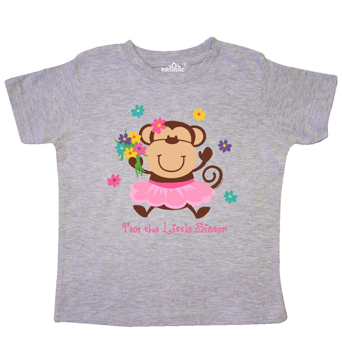 inktastic Monkey Little Sister Toddler T-Shirt