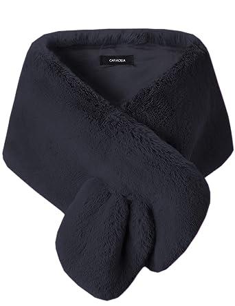 316ef7a14c6 Caracilia Women s Faux Fur Shawl Wraps Stole Cloak Coat Sweater Cape for Evening  Party Bridal