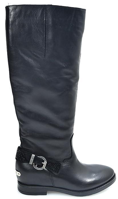 comprare popolare 5e2ca 1249a 0847L stivali donna neri LIU JO scarpe boots shoes women ...