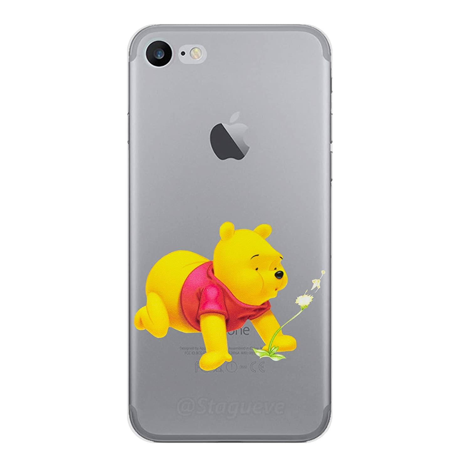 newest 48df1 1ecd5 iPhone 5/5s Winnie the Pooh Silicone Phone Case / Gel Cover for Apple  iPhone 5s 5 SE / Screen Protector & Cloth / iCHOOSE / Bend