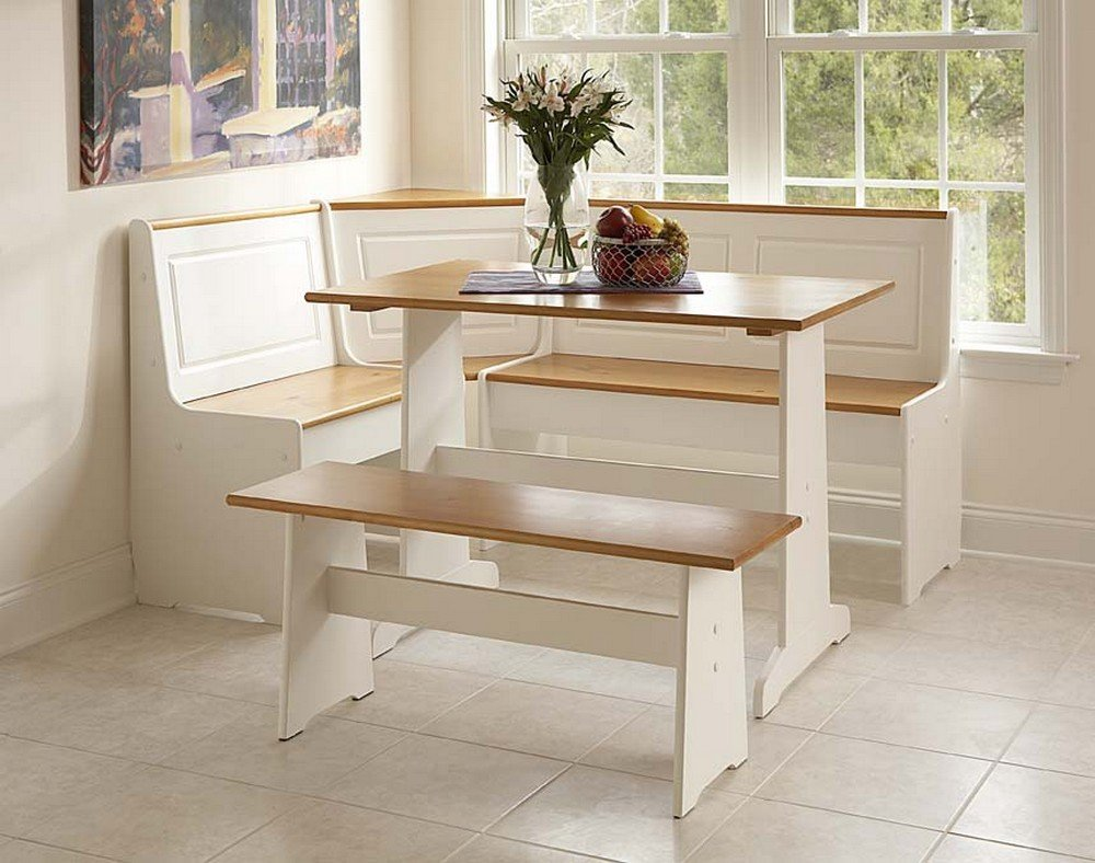 Kitchen Corner Table Set Amazon ardmore nook white with pine accents box 2 of 2 amazon ardmore nook white with pine accents box 2 of 2 kitchen dining workwithnaturefo