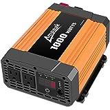 Ampeak 1000W Power Inverter Truck/RV Inverter 12V DC to 110V AC Converter with Dual AC Outlets 2.1A USB Modified Sine…