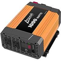 Ampeak 1000W Inversor de Corriente 12V DC a 110V AC Convertidor con duales AC Salidas 2.1A USB Onda sinusoidal…