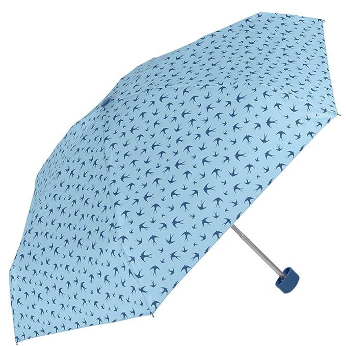 Paraguas ultraligero plegable - Súper mini plano Perletti - Paraguas de mujer compacto de viaje y para bolso - Manual - 89 cm de diámetro - Estampado de ...