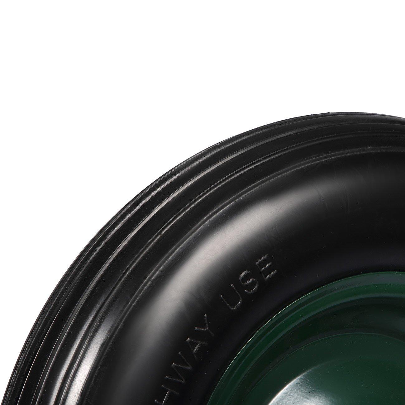 MAXCRAFT Rueda para Carretilla Goma Maciza Neumática PU 4.80/4.00-8 con Eje Repuesto 200 kg - Negro/Verde: Amazon.es: Hogar