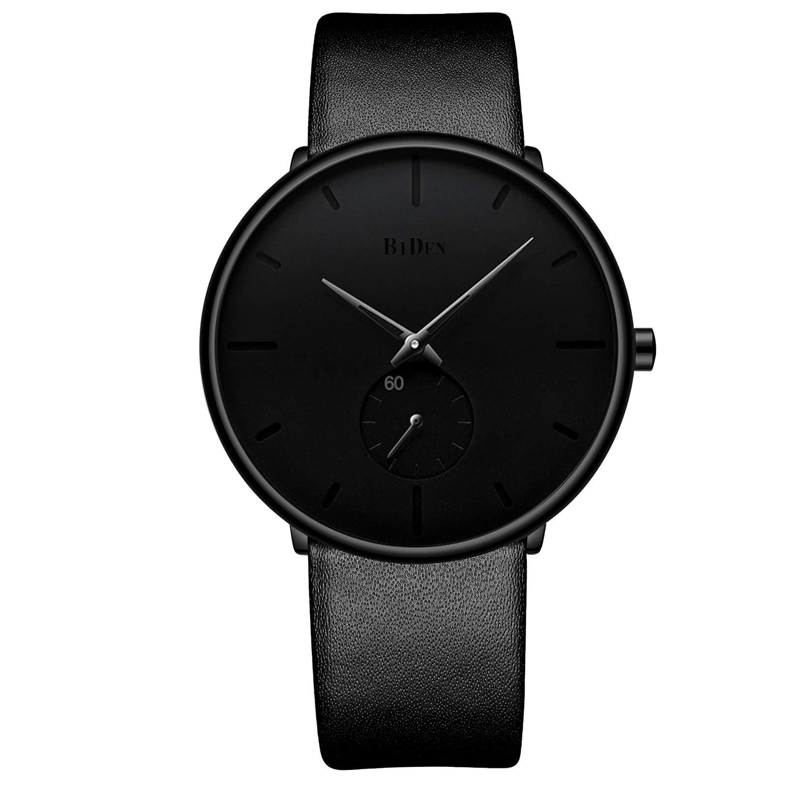 Mens Watches Minimalist Ultra Thin Waterproof Fashion Dressy Wrist Watch for Men Business Casual Luxury Quartz Analog Watch