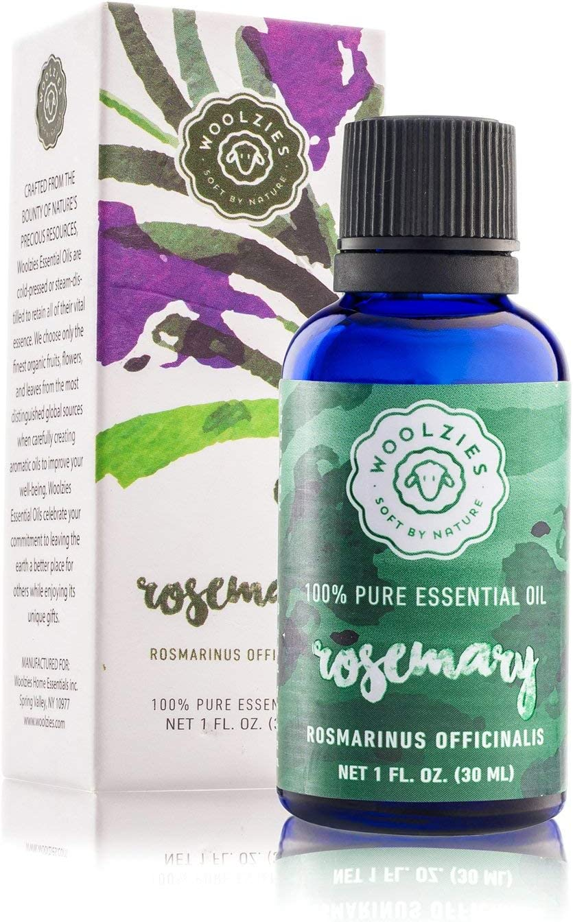 Woolzies 43% Pure & Natural Rosemary Essential Oil 43 Oz - Stimulating  Scalp Treatment for Healthy Hair Growth - Anti Aging - Skin Care For Acne &