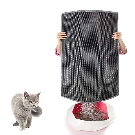 Mesigu Home Pet House - Alfombra de Arena para Gatos, diseño de Panal de Abeja