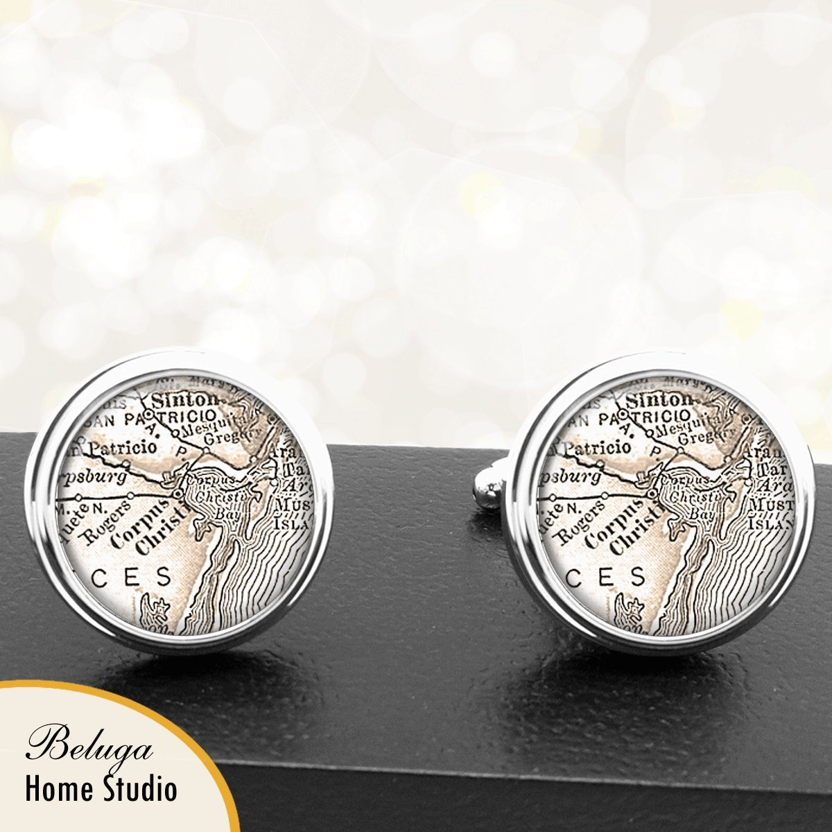 Amazon.com: Corpus Christi TX Map Cufflinks Handmade USA ... on map of lo, map of general motors, map of vb, map of cr, map of ra, map of le, map of no, map of so, map of gr, map of ge, map of white, map of sa, map of re, map of kawasaki, map of sp, map of tv, map of ta, map of international, map of ch, map of pc,