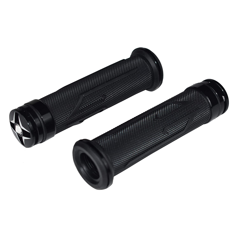 CHCYCLE Motorcycle Universal Grips 7//8 22mm and 24mm Gel Rubber End Cap Plug Slider Handlebar Grips black